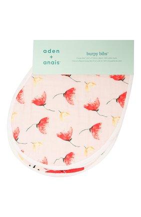 Детский комплект из двух нагрудников ADEN+ANAIS красного цвета, арт. ABBC20001 | Фото 1