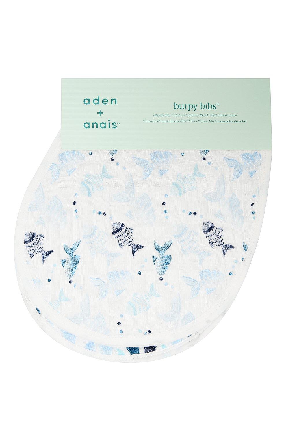 Детский комплект из двух нагрудников ADEN+ANAIS разноцветного цвета, арт. ABBC20002 | Фото 1