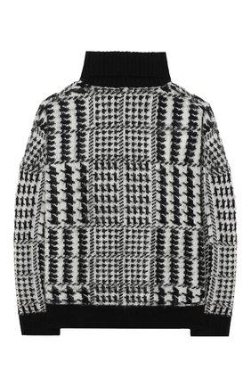 Детский шерстяной свитер JAKIOO черно-белого цвета, арт. 496603 | Фото 2