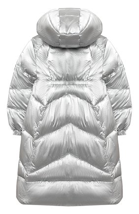 Детское пальто MONNALISA серебряного цвета, арт. 176110 | Фото 2