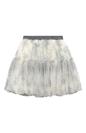 Детская юбка MONNALISA белого цвета, арт. 716706 | Фото 1