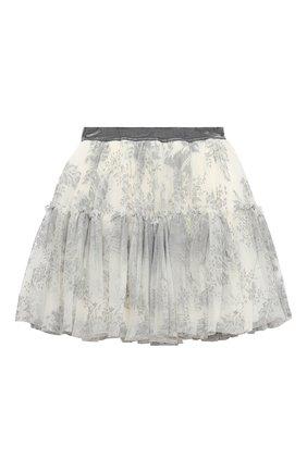 Детская юбка MONNALISA белого цвета, арт. 716706 | Фото 2