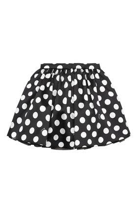 Детская юбка MONNALISA черно-белого цвета, арт. 116709 | Фото 1