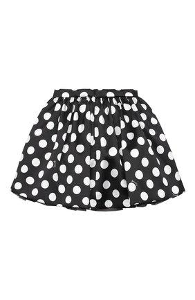 Детская юбка MONNALISA черно-белого цвета, арт. 116709 | Фото 2