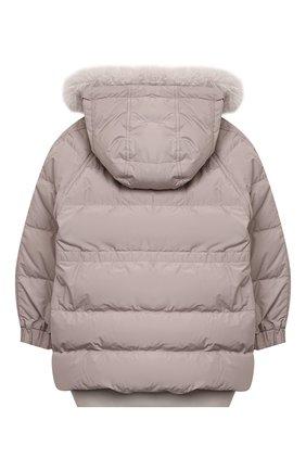 Детского пуховая куртка BRUNELLO CUCINELLI серого цвета, арт. BB574J419B | Фото 2