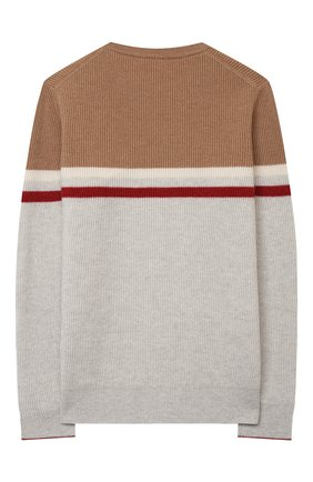 Детский кашемировый пуловер BRUNELLO CUCINELLI светло-серого цвета, арт. B22M10200C | Фото 2
