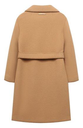 Детское шерстяное пальто DOLCE & GABBANA бежевого цвета, арт. L53C99/FU21J/8-14 | Фото 2