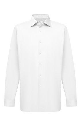 Мужская хлопковая сорочка BRIONI белого цвета, арт. RCL40V/PZ065 | Фото 1 (Рукава: Длинные; Длина (для топов): Стандартные; Материал внешний: Хлопок; Случай: Формальный; Стили: Классический; Рубашки М: Classic Fit)