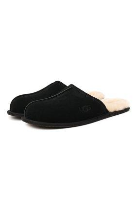 Мужского домашние туфли scuff UGG черного цвета, арт. 1101111_BLK | Фото 1
