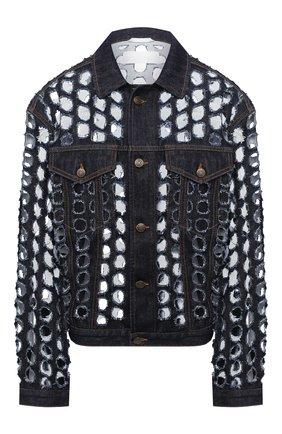 Женская джинсовая куртка MAISON MARGIELA темно-синего цвета, арт. S29AM0364/S30617 | Фото 1