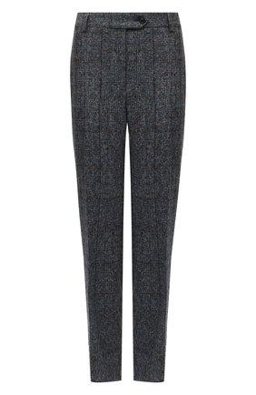 Женские шерстяные брюки KITON синего цвета, арт. D50113K05T31 | Фото 1