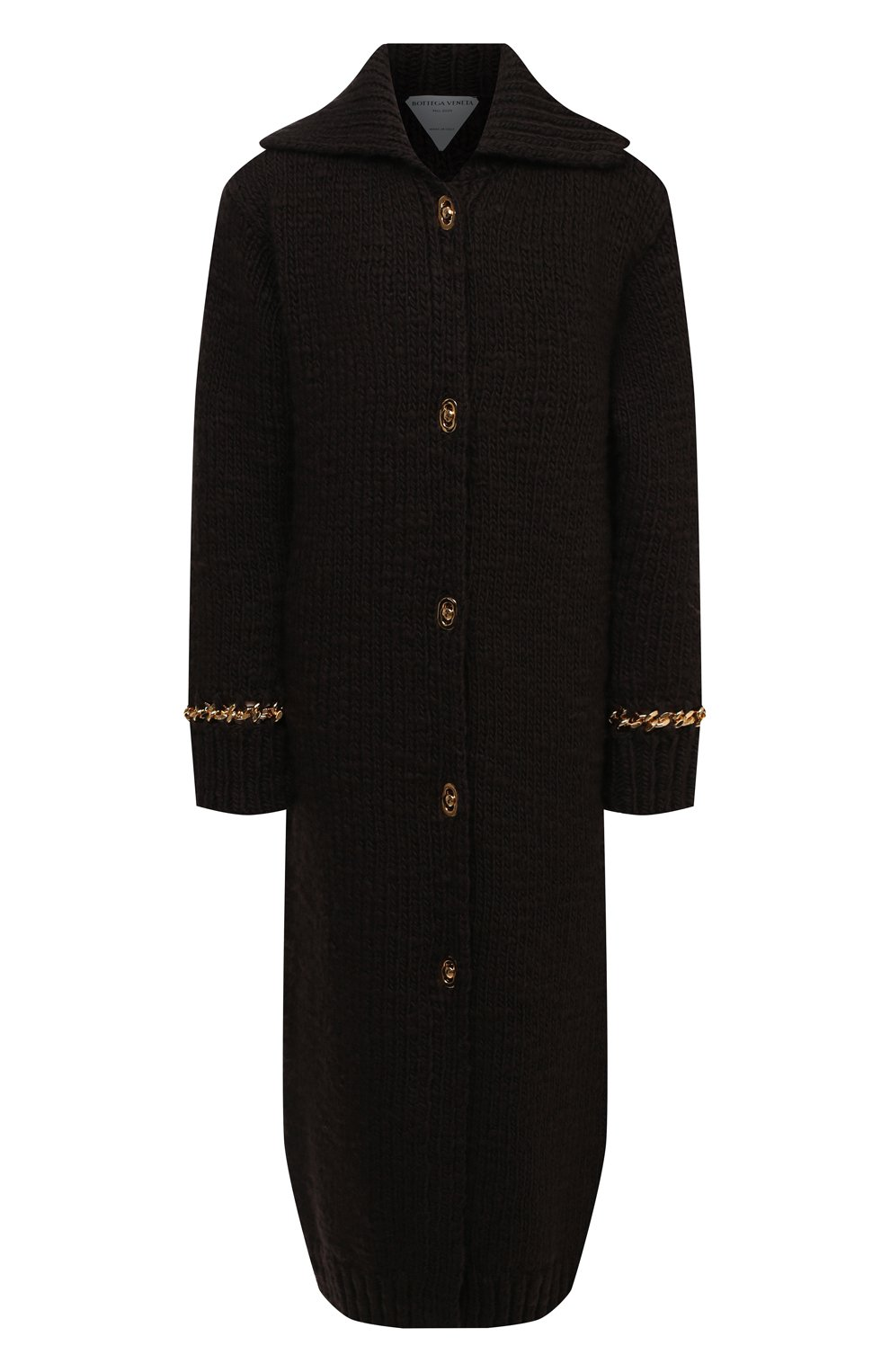 Женский шерстяной кардиган BOTTEGA VENETA темно-коричневого цвета, арт. 638593/V07P0 | Фото 1