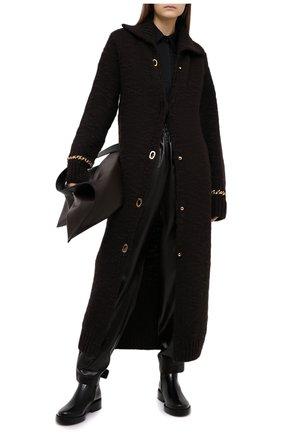 Женский шерстяной кардиган BOTTEGA VENETA темно-коричневого цвета, арт. 638593/V07P0 | Фото 2