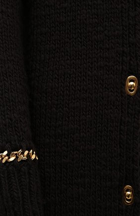 Женский шерстяной кардиган BOTTEGA VENETA темно-коричневого цвета, арт. 638593/V07P0 | Фото 5
