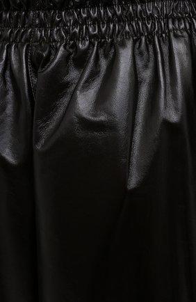 Женские кожаные брюки BOTTEGA VENETA темно-коричневого цвета, арт. 633867/VKLC0 | Фото 5