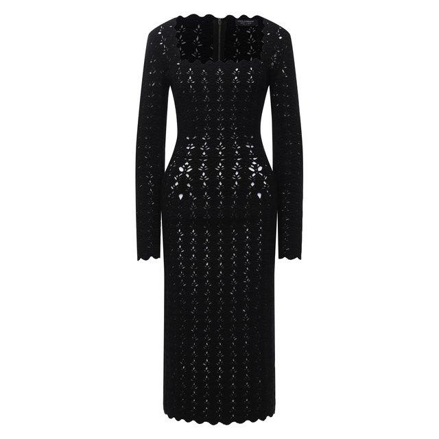 Платье из шерсти и кашемира Dolce & Gabbana