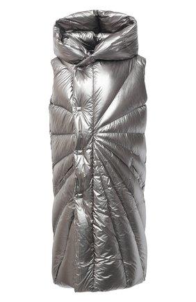 Женский пуховый жилет moncler + rick owens RICK OWENS серебряного цвета, арт. MU20F0006/C0608 | Фото 1