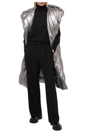Женский пуховый жилет moncler + rick owens RICK OWENS серебряного цвета, арт. MU20F0006/C0608 | Фото 2