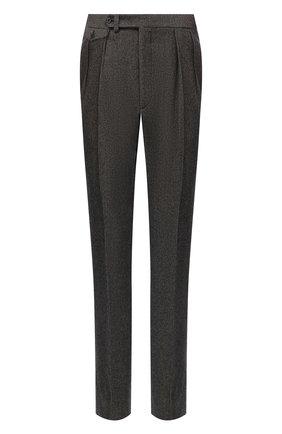 Мужской шерстяные брюки RALPH LAUREN коричневого цвета, арт. 798821392 | Фото 1