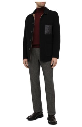 Мужской шерстяные брюки RALPH LAUREN коричневого цвета, арт. 798821392 | Фото 2