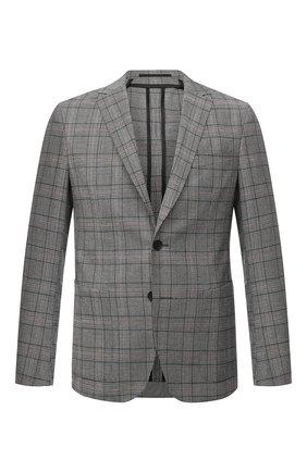 Мужской шерстяной пиджак BOSS серого цвета, арт. 50438446   Фото 1