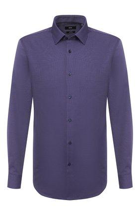 Мужская хлопковая рубашка BOSS фиолетового цвета, арт. 50439704 | Фото 1