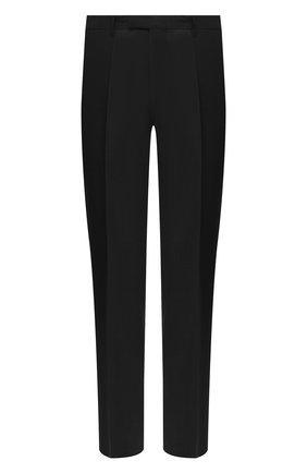 Мужские шерстяные брюки BOSS черного цвета, арт. 50409254 | Фото 1 (Длина (брюки, джинсы): Стандартные; Материал внешний: Шерсть; Случай: Формальный; Стили: Классический)