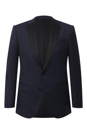 Мужской шерстяной пиджак BOSS темно-синего цвета, арт. 50375810 | Фото 1