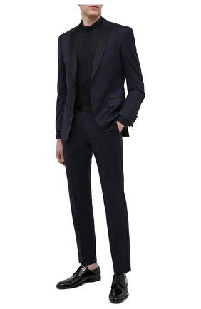Мужской шерстяной пиджак BOSS темно-синего цвета, арт. 50375810 | Фото 2