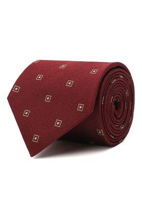 Мужской галстук из шелка и хлопка BRIONI бордового цвета, арт. 062I00/09454 | Фото 1