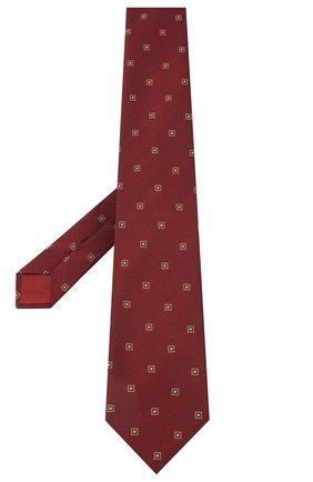 Мужской галстук из шелка и хлопка BRIONI бордового цвета, арт. 062I00/09454 | Фото 2