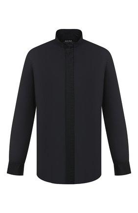 Мужская хлопковая рубашка GIORGIO ARMANI темно-синего цвета, арт. 0WGCCZ41/TZ069   Фото 1