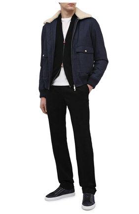 Мужской хлопковые брюки ZILLI черного цвета, арт. M0U-D0181-LUC01/R001 | Фото 2