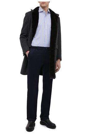 Мужской хлопковые брюки ZILLI темно-синего цвета, арт. M0U-D0181-LUC01/R001 | Фото 2
