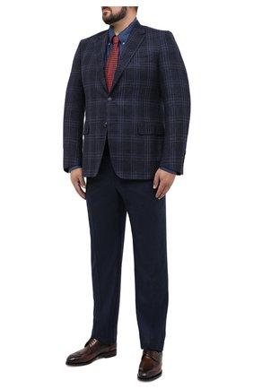 Мужская сорочка CANALI синего цвета, арт. L719B/GL02006 | Фото 2