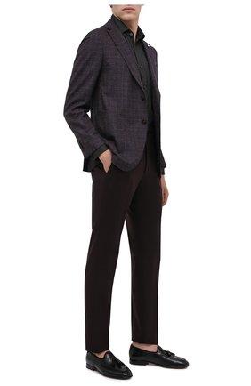 Мужские кожаные лоферы SANTONI черного цвета, арт. MCH017216LF1URSVN51 | Фото 2