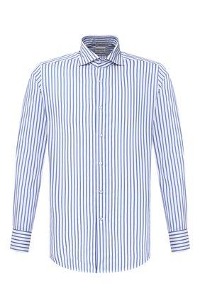 Мужская хлопковая рубашка BAGUTTA голубого цвета, арт. 386_EBL/10634 | Фото 1