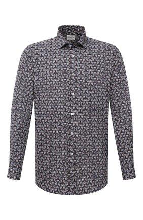 Мужская хлопковая рубашка BAGUTTA разноцветного цвета, арт. 380_EBL/10554 | Фото 1