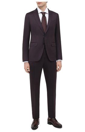 Мужской кожаные дерби SANTONI бордового цвета, арт. MCAZ17369MI6ISWQQ48 | Фото 2
