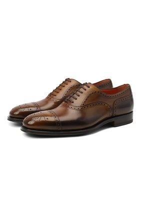 Мужские кожаные оксфорды SANTONI коричневого цвета, арт. MCPH17110RG1INGCS53 | Фото 1