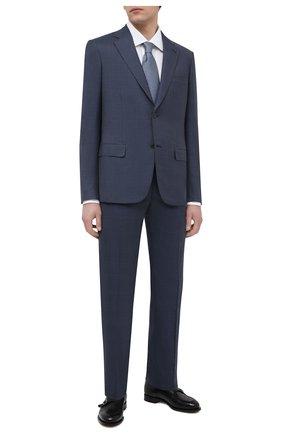 Мужской костюм из шерсти и шелка BRIONI синего цвета, арт. RAH00U/09A1R/PARLAMENT0 | Фото 1