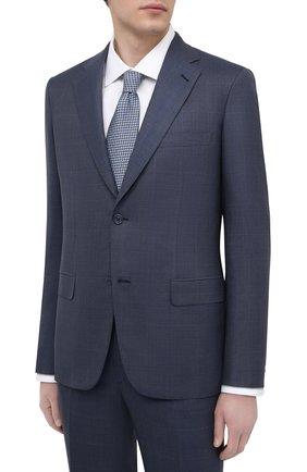 Мужской костюм из шерсти и шелка BRIONI синего цвета, арт. RAH00U/09A1R/PARLAMENT0 | Фото 2