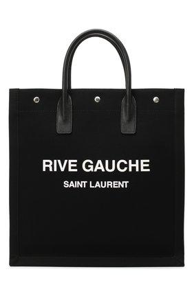 Мужская текстильная сумка-тоут noe SAINT LAURENT черно-белого цвета, арт. 632539/96N9E | Фото 1
