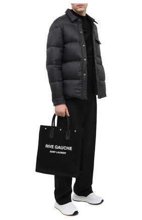 Мужская текстильная сумка-тоут noe SAINT LAURENT черно-белого цвета, арт. 632539/96N9E | Фото 2