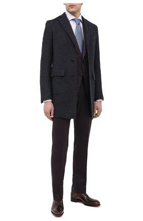 Мужские кожаные оксфорды SANTONI бордового цвета, арт. MCCR11732MC1HPHRQ44 | Фото 2