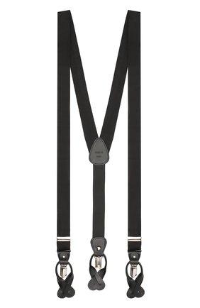 Мужские шелковые подтяжки ERMENEGILDO ZEGNA черного цвета, арт. Z8D60/620 | Фото 1
