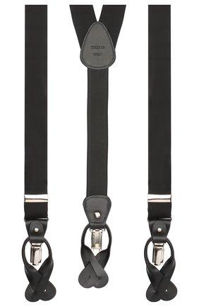 Мужские шелковые подтяжки ERMENEGILDO ZEGNA черного цвета, арт. Z8D60/620 | Фото 2