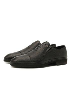 Мужские кожаные лоферы ALDO BRUE черного цвета, арт. AB8606K-NCM.A.A99T | Фото 1