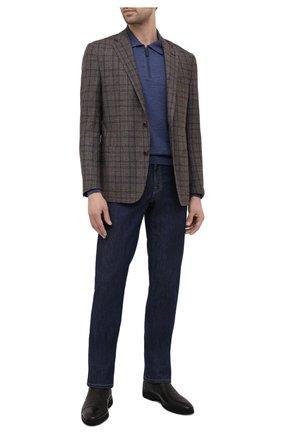 Мужские кожаные лоферы ALDO BRUE темно-коричневого цвета, арт. AB8619K-NCM.A.A99T | Фото 2