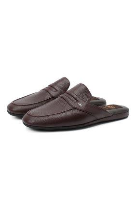 Мужского кожаные домашние туфли ALDO BRUE бордового цвета, арт. PCU127K-CM | Фото 1